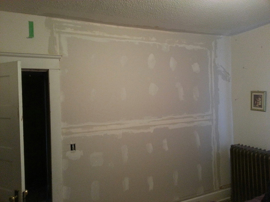 Plaster and Sheetrock After Repair